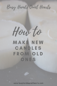 new candles made from old