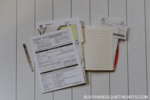 Tax and budget paperwork