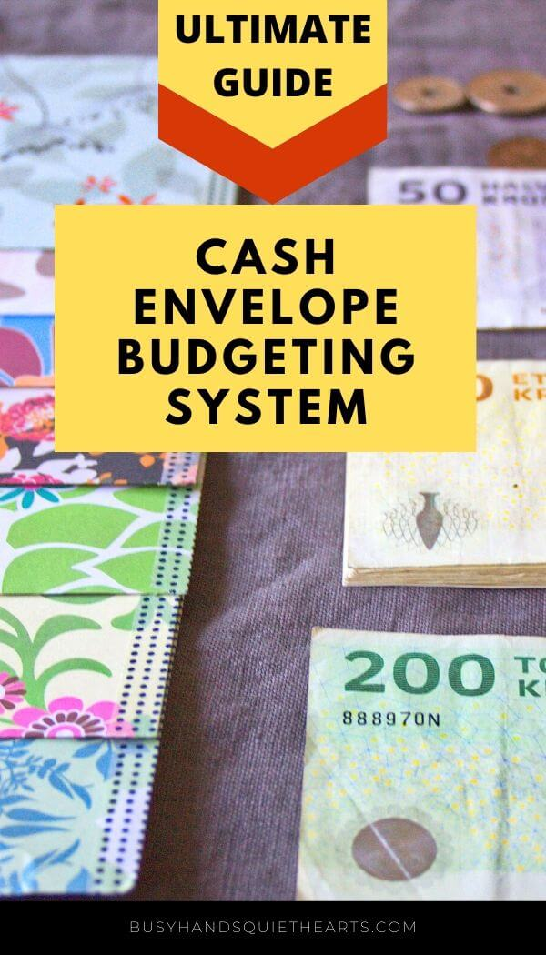 The ultimate guide to the cash envelope budgeting system pin
