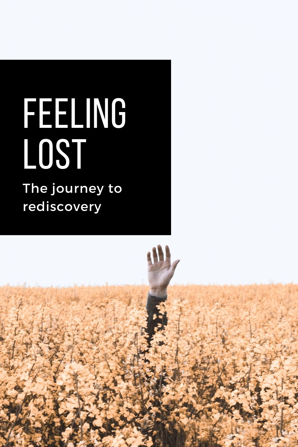 pinterest pin for the Feeling Lost article