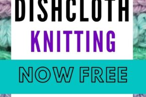 bestselling dishcloth knitting pattern now free