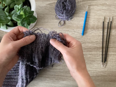How to Mend a Hand-Knit Sweater – Two ways