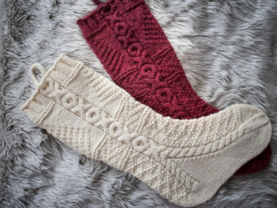 7 Christmas Stockings Knitting Patterns