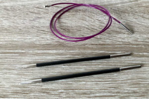 Interchangeable knitting needles with wire and needle seperately